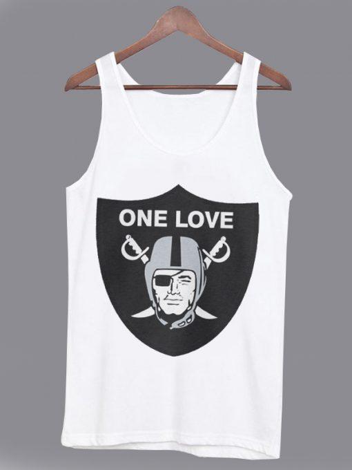 One Love Oakland Raiders Unisex Tank top