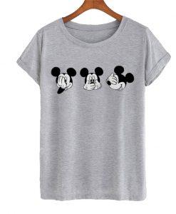 Three Head Mickey Mouse T-shirt