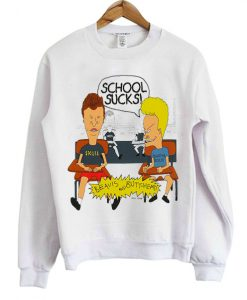 Beavis And Butthead School Sucks Sweatshirt