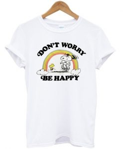 Junk Food Snoopy Dont Worry Be Happy T-Shirt