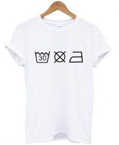 Washing Instructions T-shirt