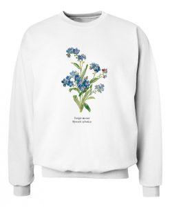 Forget Me Not Myosotis Sylvatica Sweatshirt