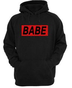 Babe Rectangular Hoodie