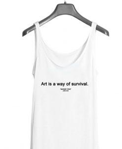 Art Is A Way Of Survival Yoko Ono Tank Top