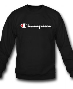 Champion White Script Sweatshirt