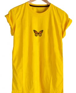 Monarch Butterfly Single Yellow T-shirt