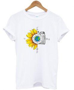 Wanderlust Sunflower Camera T-shirt