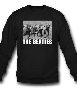 The Beatles In Front Of Car Sweatshirt