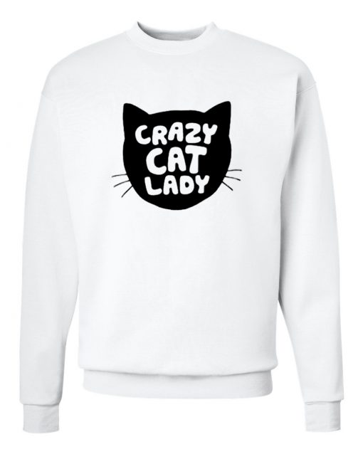 Grazy Cat Lady Silhouette Head Sweatshirt