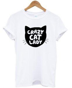 Grazy Cat Lady Silhouette Head T-shirt