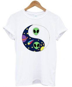 Alien Yin Yang Space T-shirt
