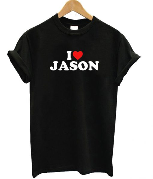 I Love Jason Heart T-shirt
