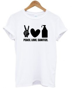 Peace Love Sanitize - Symbol T-shirt