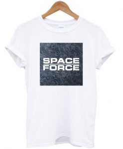 Space Force Moon Background T-shirt
