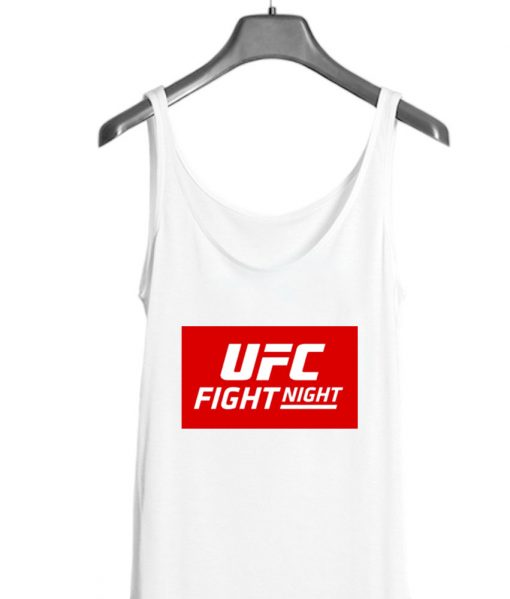 UFC Fight Night Red White Tank top